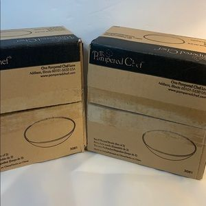 Pampered Chef 2 Sets Small Round Bowls New in Box